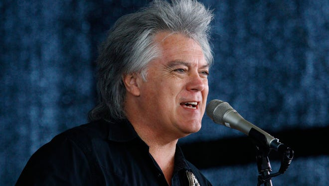 Country music star Marty Stuart, seen here singing at a 10th anniversary Hurricane Katrina First Responders Remembrance salute on Aug. 28, 2015, was awarded an honorary high school diploma last weekend during the 40th reunion of the Philadelphia High School Class of 1986.