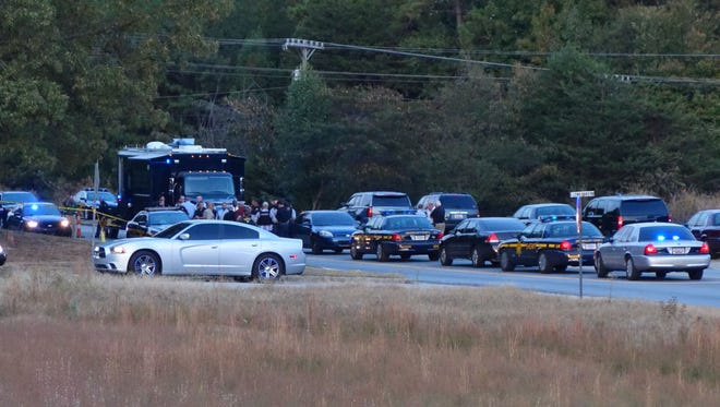 The Greenville County Sheriff's Office at the scene of a deputy-involved shooting on Bruce Road Tuesday night.