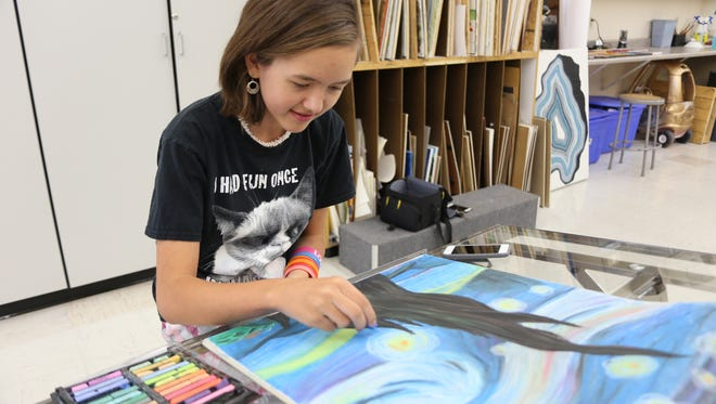 Catty Lemmon, 11, hopes to combine her talents in both art and math into a career in motion picture computer-generated imagery. She's the youngest full-time college student in the state of Utah.
