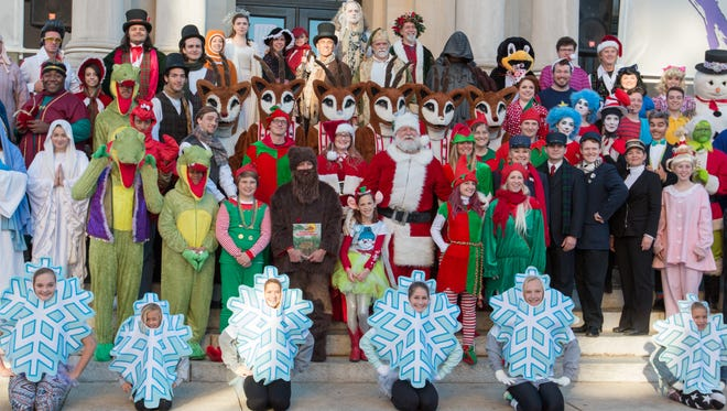 Winterfest 2016 cast members suit up for a dress rehearsal for this year's downtown holiday celebrations.