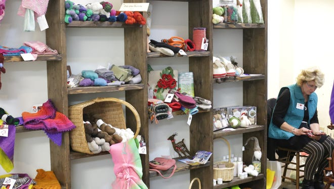 Yarn items on display in this file photo from the Manitowoc Winter Market.