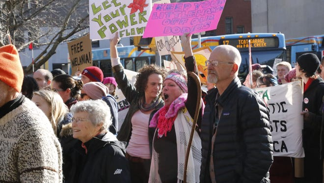 Thousands of people took to the streets of Ithaca on Saturday, Jan. 21, for the Women's March on Ithaca, a sister march of the Women's March on Washington.
