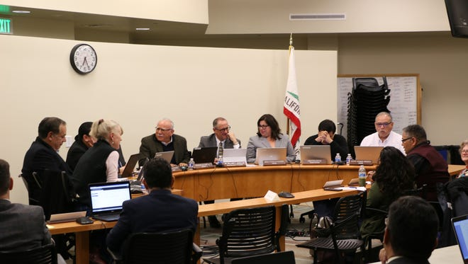 The Hartnell Governing Board during Tuesday's meeting.