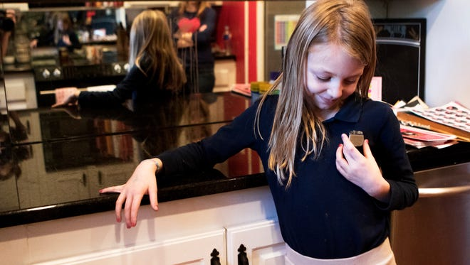 Marin Varnado, 9, shows off the pacemaker that was removed from her chest eight weeks ago on Thursday, February 9, 2017. Marin Varnado was born with a congenital heart defect. Varnado had her first heart surgery when she was 3 weeks old. Six months later, that pacemaker became infected and was replaced with a new one. In December 2016, Varnado underwent surgery again to replace that pacemaker. She will continue to have surgery to replace her pacemaker, which has a lifespan of approximately 7 years, throughout her life. Approximately 8 out of every 1,000 babies are born with a congenital heart defect.