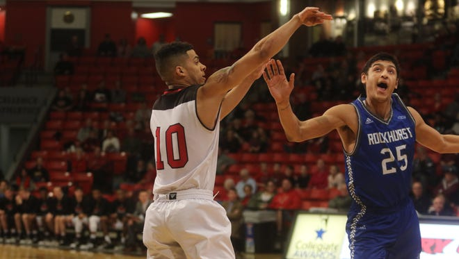 Drury guard Tevin Foster scored 19 points in the first half against Rockhurst on Sunday.