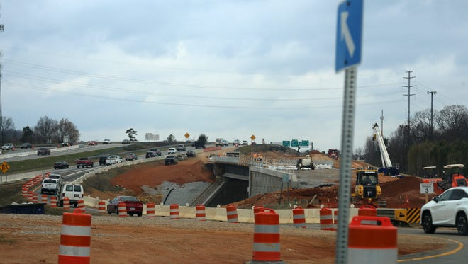 Road construction is ongoing at Woodruff Road and I-385.