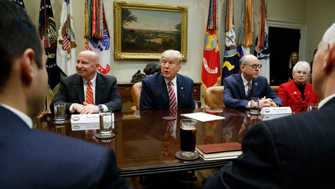 President Trump speaks during a meeting on health care March 10.