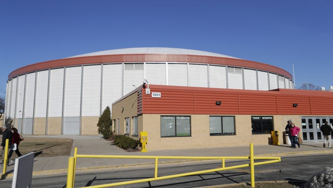 A study was commissioned to explore options for the aging Brown County Veterans Memorial Arena, pictured, and Shopko Hall.