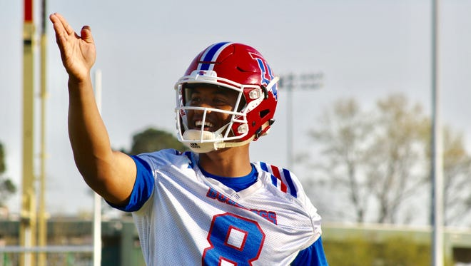 Louisiana Tech redshirt sophomore J'Mar Smith will have to earn the starting quarterback job this spring.