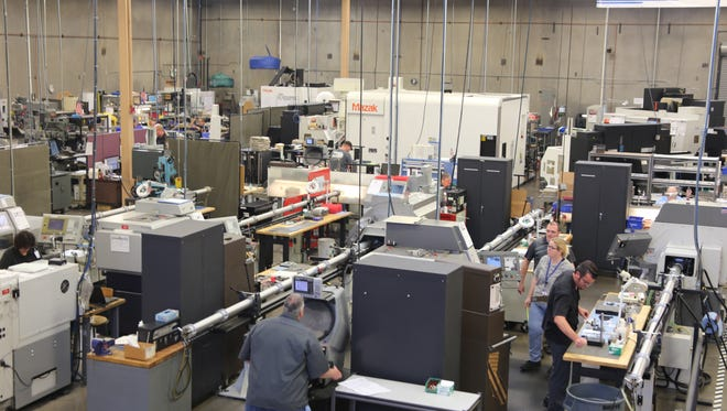 Employees at the RAM Company build solenoid valves and other parts inside a manufacturing facility in St. George. The company is requesting help from the city council to use its industrial development bonding ability to help finance a new $11 million expansion project.