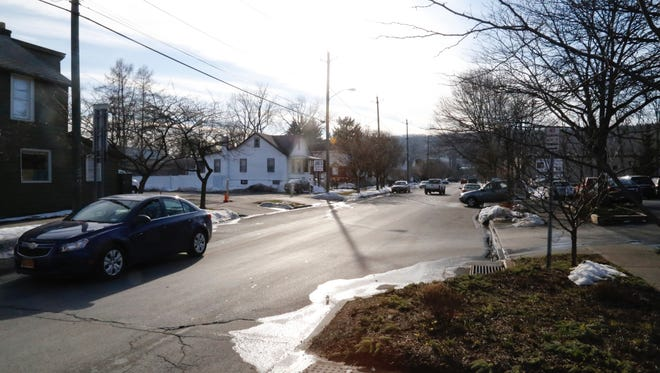 A photo of West Court Street in the vicinity of the location for a proposed housing project by Lakeview MEntal Health Services.