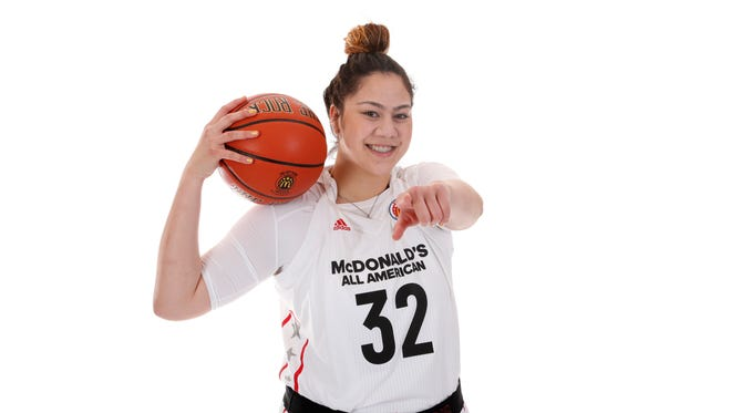 McDonald's All-American and Louisville signee Loretta Kakala poses for a portrait on Monday, March 27, 2017.