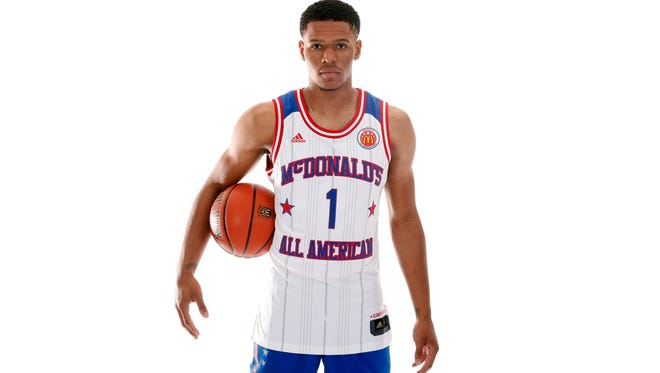Trevon Duval (1) poses for a photo during the 2017 McDonalds All American Game Portrait Day