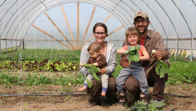 CSA farmers Stacey and Tenzin Botsford of Red Door Family Farm in Athens will return to the 2017 CSA conference , adding that the event focuses on the unique challenges and rewards of CSA farming.