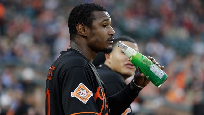 Baltimore's Adam Jones says racial slurs were hurled at him Monday night at Fenway Park in Boston.