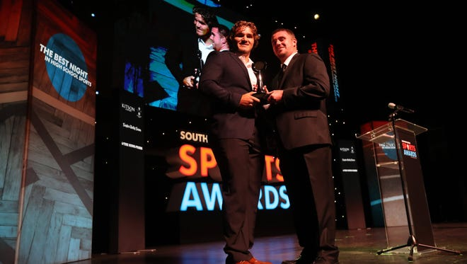The News-Press winners of the Southwest Florida Sports Awards at Barbara B. Mann Performing Arts Hall. Krissy Gear from Fort Myers High School and Cole Schneider from Riverdale High School were named the Athletes of the year.