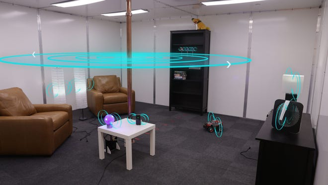 Disney Research's wireless charging room.
