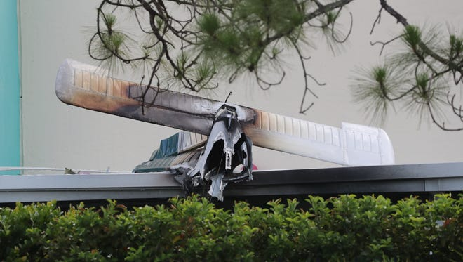Scene from a plane crash Saturday, June 24, 2017, in Fort Myers.