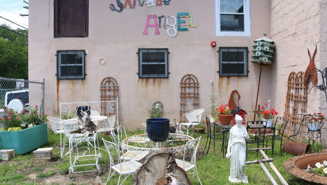 The outside of Salvage Angel by the Sea in Asbury Park.