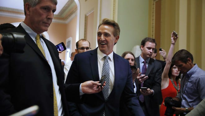 U.S. Sen. Jeff Flake has not signaled how he would vote on the now-struggling Better Care Reconciliation Act. But potential challengers for his Senate seat are blasting the bill.