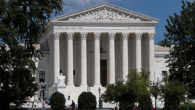 The Supreme Court is seen on the last day of its term, in Washington, Monday, June 26, 2017.