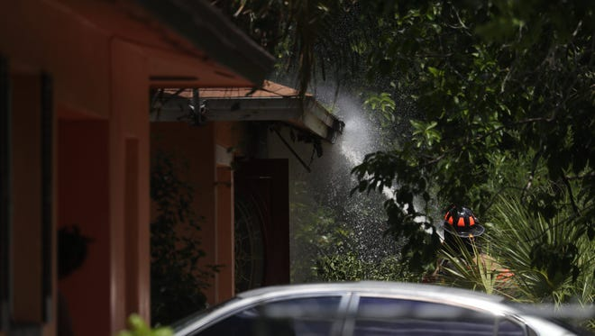 One person was confirmed deceased at a house fire on Framingham Court in Fort Myers on Wednesday. The cause of the fire and death are under investigation by the state fire marshall.