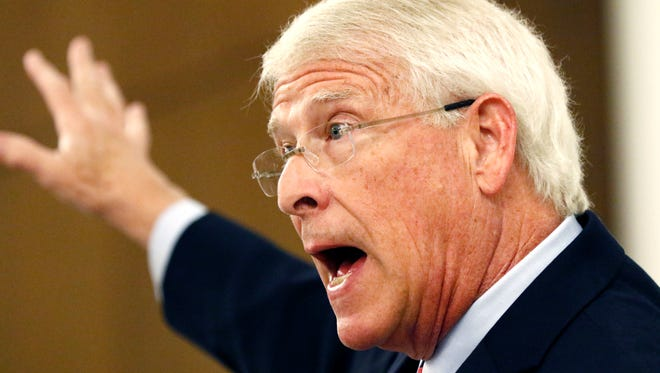 "U.S. Sen. Roger Wicker, R-Miss., reaffirms his belief in the economic health of the country under President Trump's administration Monday during an address before Jackson business leaders. Wicker later commented on the violent confrontation in Virginia over the removal of the statue of Gen. Robert E. Lee. ""I condemn the white supremacists and the neo-Nazis that engaged in violence,"" said Mississippi's junior senator."