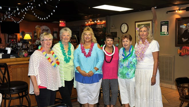 Pam Woods, Georgia Sims, Denise Jarvis, Cathy Jarvis, Michelle Petitt and Karen Myers met to support the fundraiser to benefit the Down Syndrome Association.
