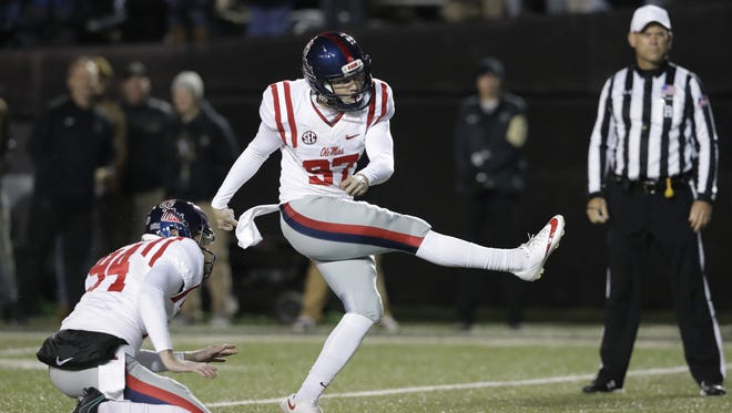 Ole Miss kicker Gary Wunderlich converted on 95.7 percent of his field goal attempts as a junior.