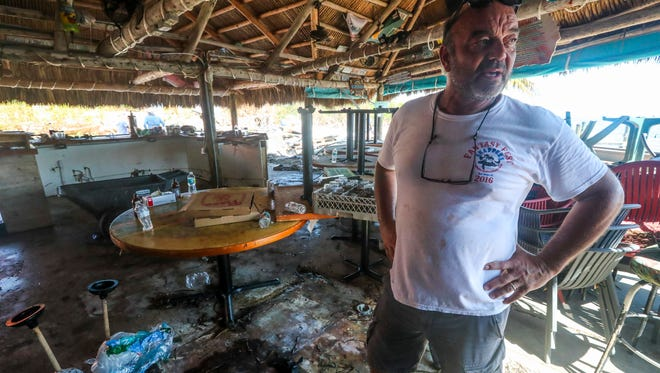 """Snapper's on Key Largo was badly damaged in Hurricane Irma and planned to rebuild. """"We will be stronger and better"""" owner Peter Althois said."""