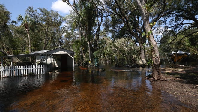Homes in the the Orange River area in Buckingham saw heavy flooding due to Hurricane Irma.