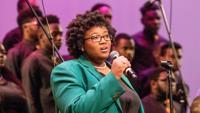 The FAMU Concert Choir performs during the university's convocation celebrating their 130th anniversary on Thursday, Oct. 5, 2017.