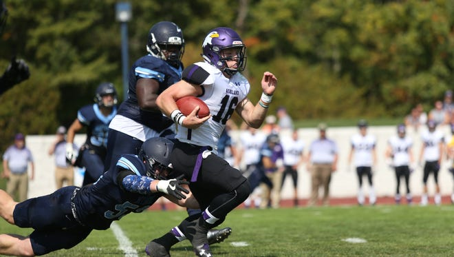 Not only has he surpassed 100 career touchdown passes and 10,000 career passing yards, but Ashland quarterback Travis Tarnowski has thrown 219 consecutive passes without an interceptions for the 13th-ranked Eagles.