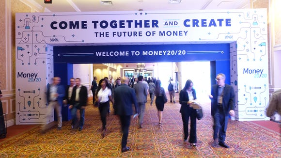 The show floor of the Money2020 conference in Las Vegas