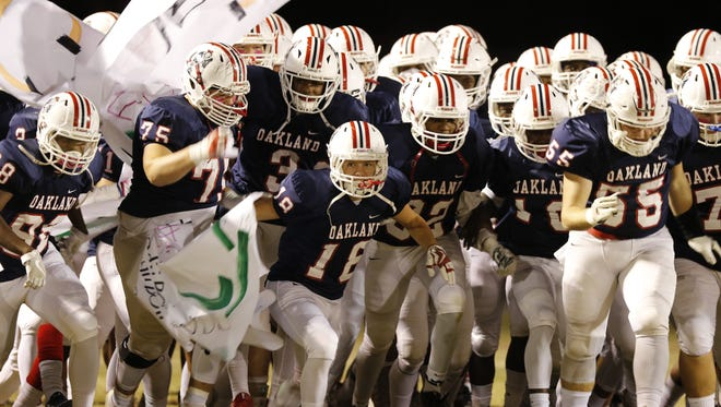 Oakland will be gunning for its second straight BlueCross Bowl appearance this year. The Patriots play host to Lebanon in the first round of the 6A state playoffs Friday.