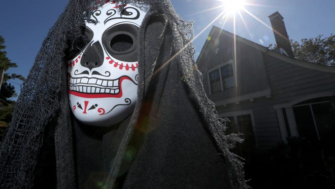 """The """"Day of the Dead"""" houses on Beard Street in the Lafayette Park neighborhood displays Halloween spirit in 2017."""