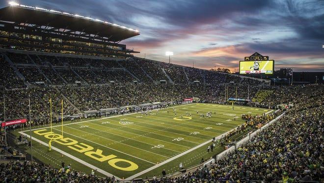 Oregon's Autzen Stadium.