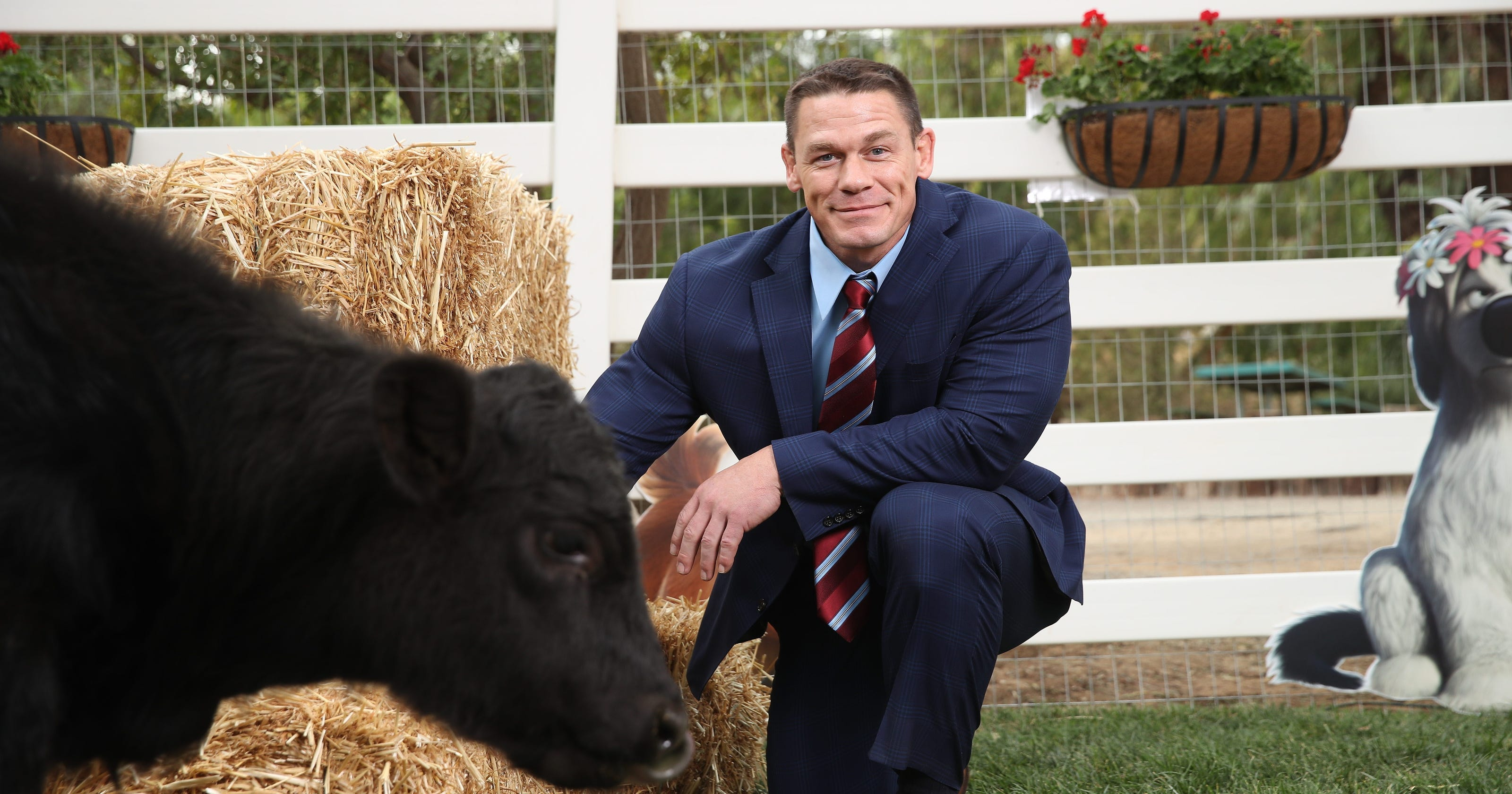 John Cena shows he\'s not serious as a peace-loving bull in \'Ferdinand\'