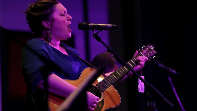"""Sarah McElhaney O'Dell performs in one of her final """"farewell"""" shows with the Sarah Mac Band at the Tallahassee Theatre."""