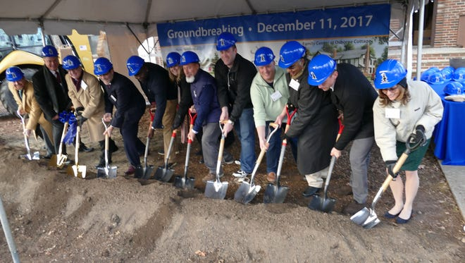 Adminstrative staff and local officials broke ground at Bonnie Brae in the Liberty Corner section of Bernards to expand the old Osborn cottage into a new Family Services Center and to build a new residential cottage.