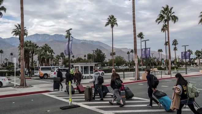 Palm Springs International Airport late Saturday morning on Saturday, December 16, 2017.