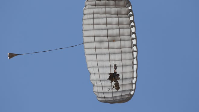 The Hi-5 parachute canopy was developed by defense contractor Airborne Systems of Pennsauken, which just won a major  U.S. Marine Corps contract.
