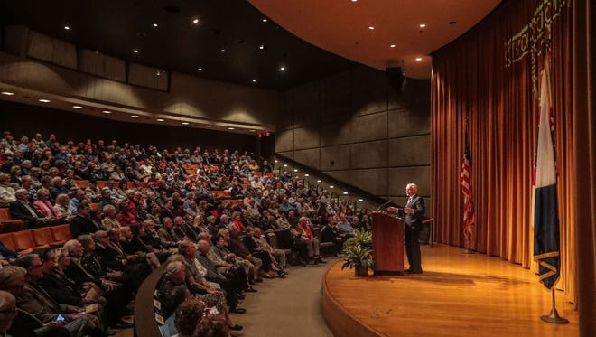 General Wesley Clark, former NATO Supreme Allied Commander, and presidential candidate, speaks to a packed house at the Helene Galen Auditorium Annenberg Center for Health Sciences at Eisenhower on Tuesday, January 30, 2018 in Rancho Mirage, as the first speaker in the 2018 Rancho Mirage Speaker Series.