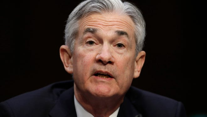 Federal Reserve Chairman Jerome Powell says the global economy is recovering strongly for the first time in a decade, but the central bank needs to remain alert to any emerging risks to financial stability. (AP Photo/Carolyn Kaster, File)