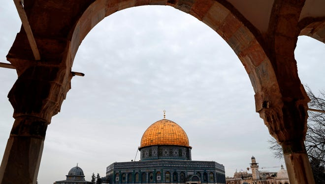 A picture taken on Feb. 15, 2018 shows a view of the Dome of the Rock from inside Al-Aqsa mosque compound in East Jerusalem.