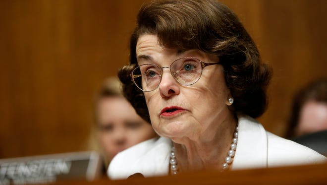 This July 12, 2017, file photo shows Sen. Dianne Feinstein, D-Calif.
