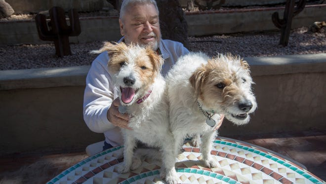 Rich Hazelwood The owner of The Celebrity Theater says he's the first person in Arizona to clone of his pets name Jinnie, on left and Jellie.