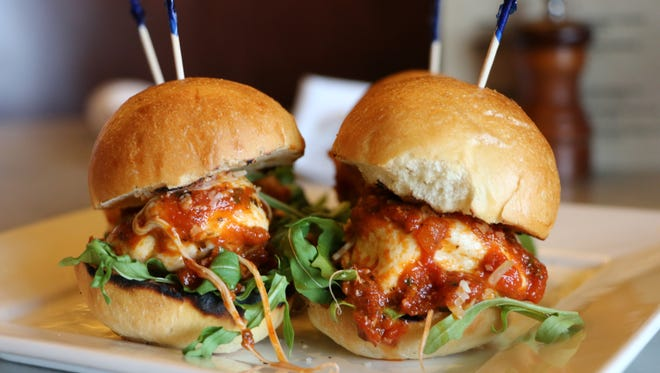 Spuntino's meatball sliders, special for National Meatball Day.