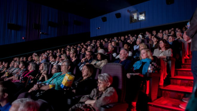 """The audience at the Las Cruces International Film Festival screening of the Cybill Shepard film, """"Rose"""", who along with co-star Pam Grier watch along with them at the Las Cruces International Film Festival on March 7, 2018."""