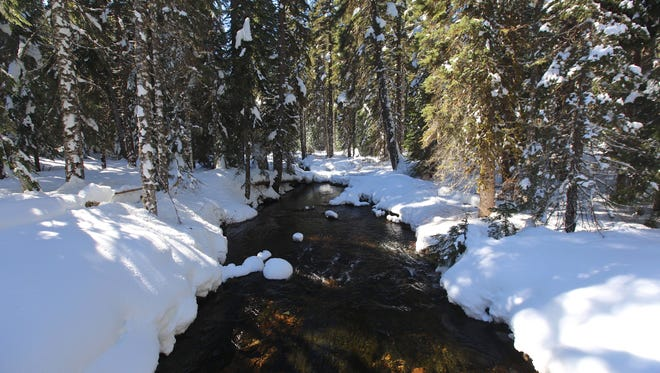 A view of the snow-covered North Santiam River is a big highlight of the trip to Fay Lake.